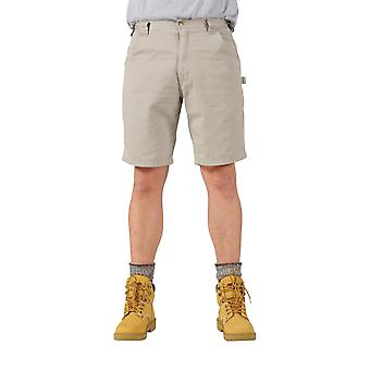 KEY Dungaree Style Work Shorts - Stone Mens Work Shorts American Workwear