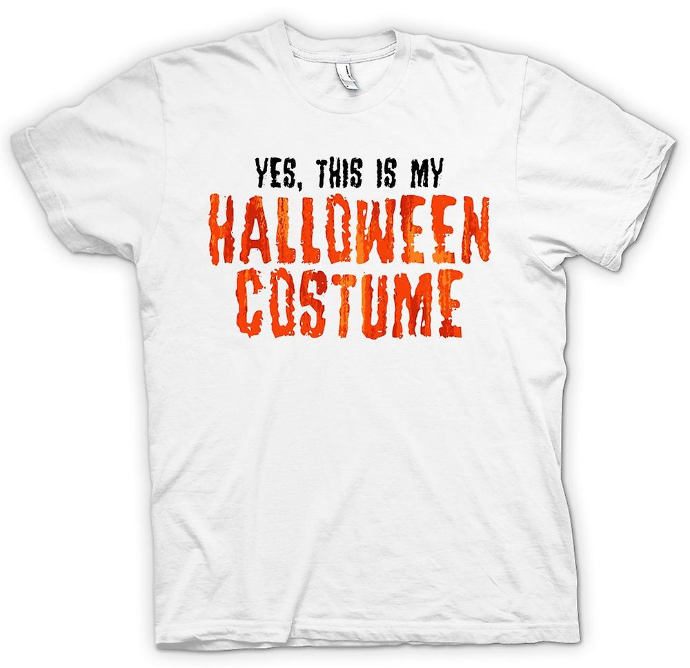 T-shirt des hommes - Oui This Is My Halloween Costume