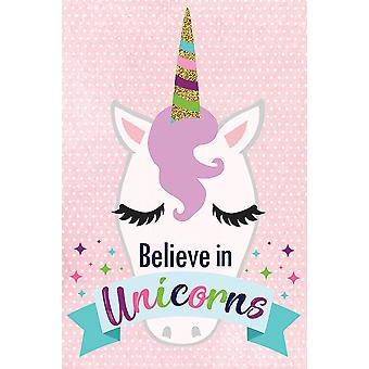 Believe In Unicorns Poster Print by ND Art