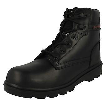 Mens Z.E.P.H.Y.R Steel Toe Safety Work Boot ZX17 - Black Leather - UK Size 12 - EU Size 46 - US Size 13