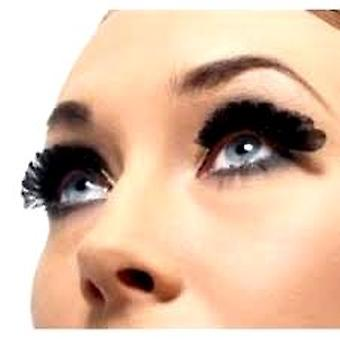 Feather Eyelashes - Small - Black - contains Glue