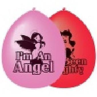 Ángel y Diablo de globos de látex