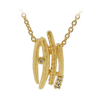Orphelia Silver 925 Chain With Pendant Goldplated Zirconium  ZH-6022/2