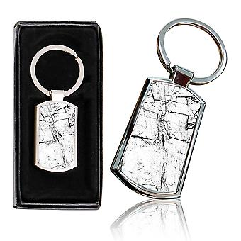 i-Tronixs - Premium Marble Design Chrome Metal Keyring with Free Gift Box (2-Pack) - 0051