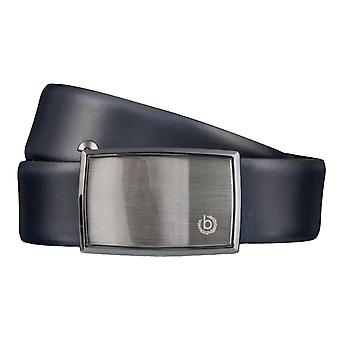 Cinturones de Bugatti correa cuero hombre cuero automático del cinturón azul 35 mm 4187
