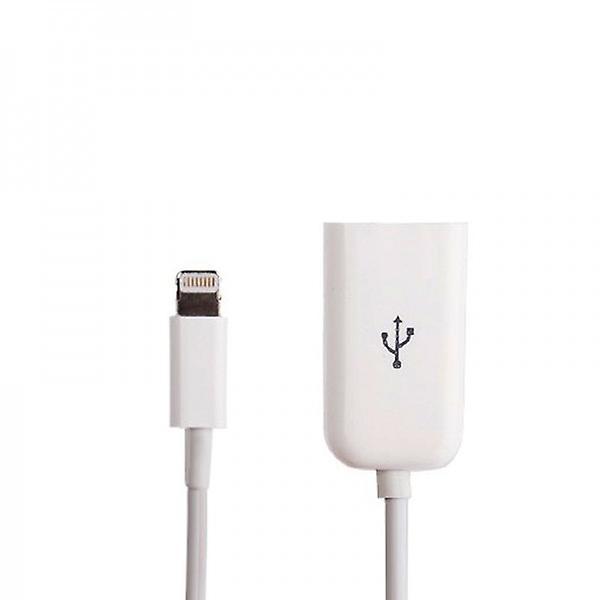 Apple iPhone 5 5S 5C iPad 4 Mini adapter 8 pin cable on USB lightning white