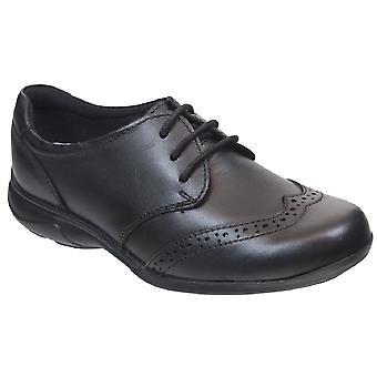 Termijn meisjes Zomerschool Lace schoenen zwart leer