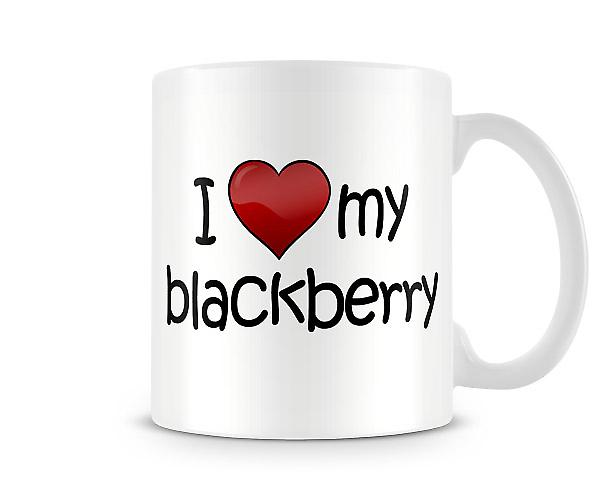 I Love My Blackberry Printed Mug