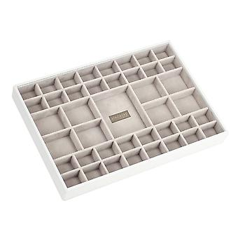 White & Grey Supersize 41 Section Jewellery Tray