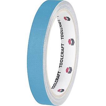 TOOLCRAFT HEB19L10BC Cloth tape HEB19L10BC Blue (L x W) 10 m x 19 mm 1 Rolls