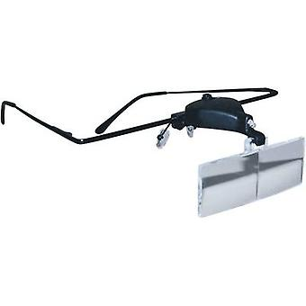Magnifier glasses incl. LED lighting Magnification: 1.5 x, 2.5 x, 3.5 x