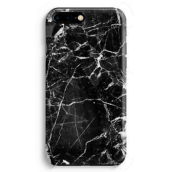 iPhone 8 に加えて、フル印刷ケース (光沢のある) - 黒大理石 2
