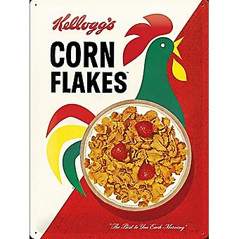 Kelloggs Corn Flakes Modern Packet Large Embossed Steel Sign 400Mm X 300Mm
