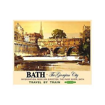 Bath - Georgian City (Old Rail Ad.) Metal Sign 200Mm X 150Mm