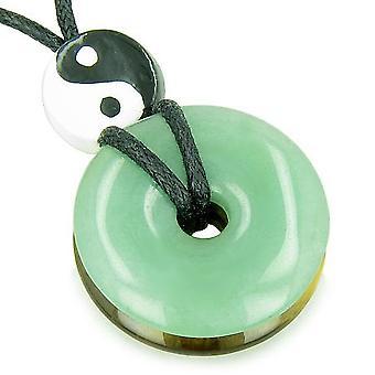 Amulet Double Lucky Yin Yang Donuts Aventurine Tiger Eye Evil Eye ProtectiMoney Powers Necklace