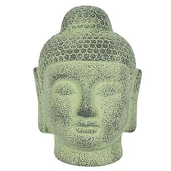 Something Different Green Terracotta Buddha Head Ornament