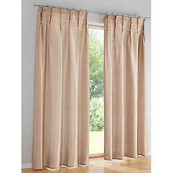 Heine home set of 2 set Curtain shiny opaque 3-way gathering with decoration buttons