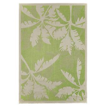 Outdoor carpet for Terrace / balcony carpet indoor / outdoor - for indoor and outdoor living Palm green nature 135 x 190 cm