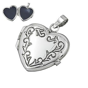 Pendant - heart, Locket - Silver 925