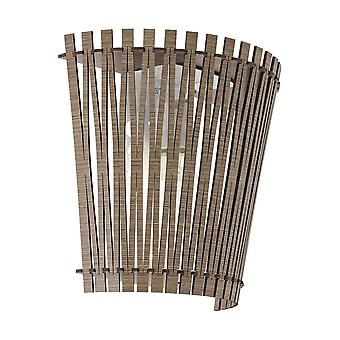 Eglo Sendero Dark Wood Wall Uplighter