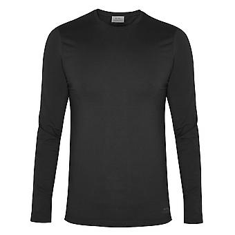CC Collection Corneliani Corneliani Black Long Sleeve Crew Neck T-Shirt