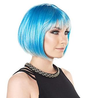 Party Wig - Short Bob - Cosmic Blue - Bright Colours