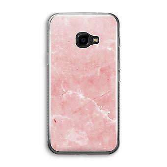 三星銀河 XCover 4 透明ケース (ソフト) - ピンクの大理石