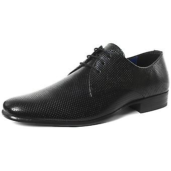 Red Tape Rio Black Mens Lace Up Derby Shoes