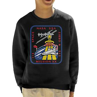NASA STS 118 Space Shuttle Endeavour Mission Patch Kid's Sweatshirt