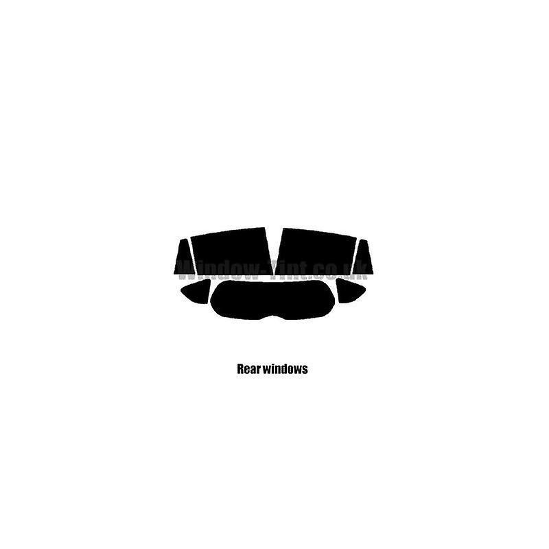 Pré coupé vitres teintées - Toyota RAV4 5 portes - 2013 et plus récente - vitre arrière dirigée