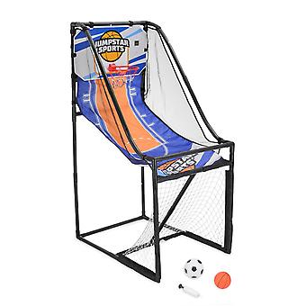 Basketball Hoop Football Goal Kids 2 In 1 Indoor Outdoor Game JumpStar Sports