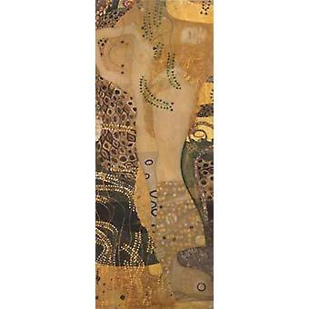 Water Serpents I,Gustav Klimt,50x20cm