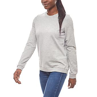 Noisy may classic ladies sweater light grey
