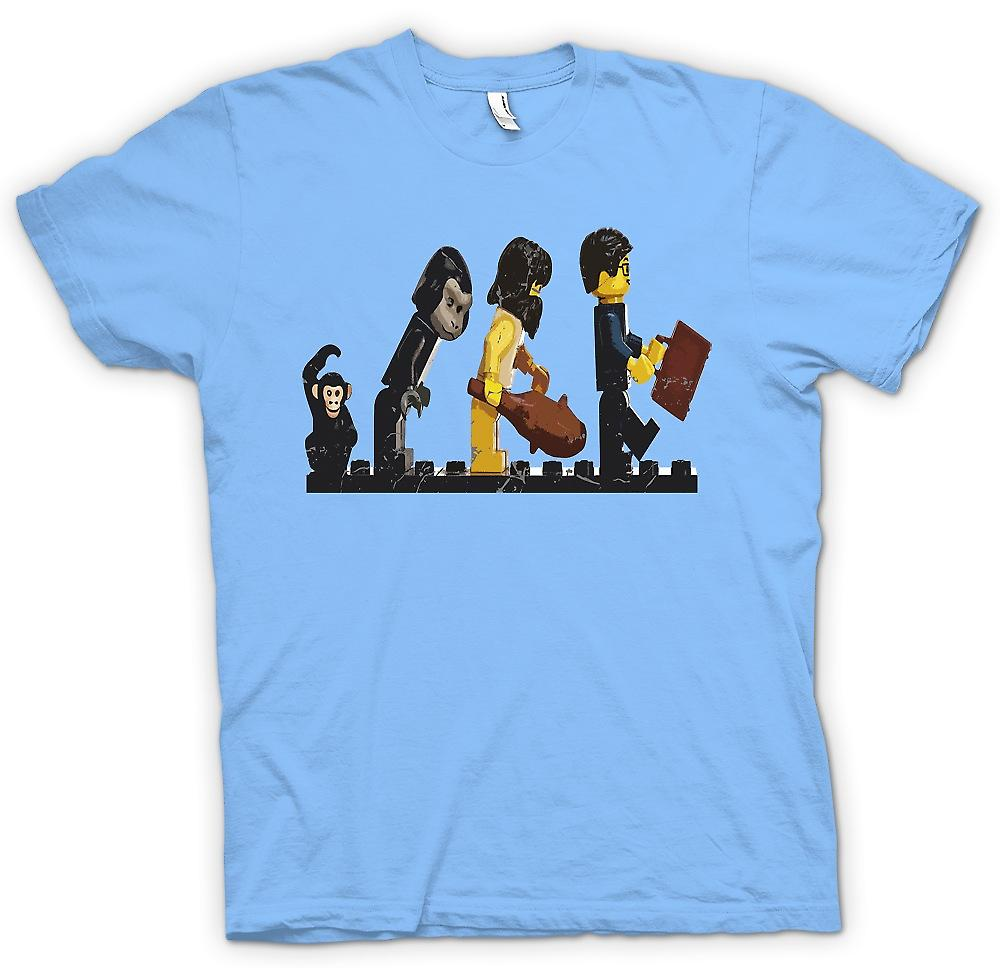 Herr T-shirt-Lego Mans Evolution - rolig