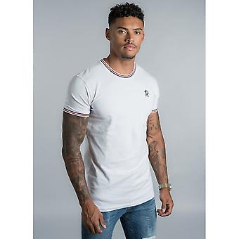 Gym King Signature Tipped T-shirt In White
