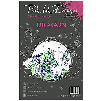 Pink Ink Designs Dragon 8 Clear Stamp Set