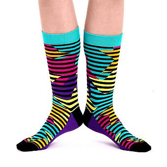 Stars luxury combed cotton designer crew socks in aqua | By Ballonet