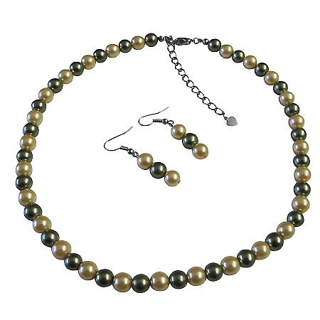 Sophisticate Pearls Pistachu & Daffodil Prom All Type Jewelry Set
