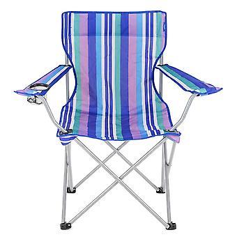 Yello Faltung Strand Stuhl für Camping, Angeln oder Strand - blaue Streifen