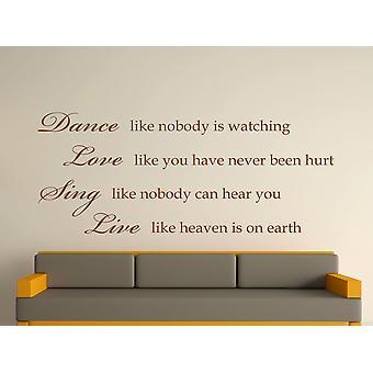 Dance Like Nobody Is Watching Wall Art Sticker - Brown