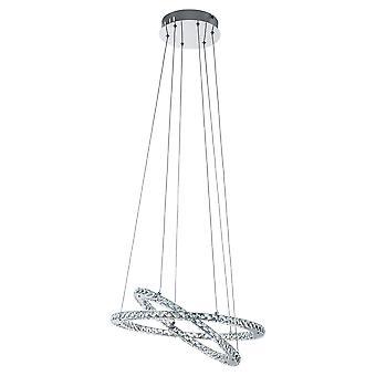 Eglo - Varrazo LED Pingente teto cromado luz EG31667