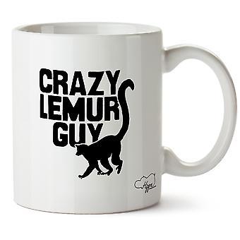 Hippowarehouse Crazy Lemur Guy Printed Mug Cup Ceramic 10oz