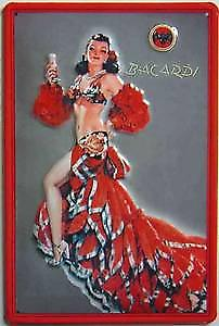 Bacardi Cuban Dancer embossed steel sign