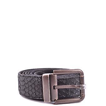 Dolce E Gabbana Black Crocodile Belt