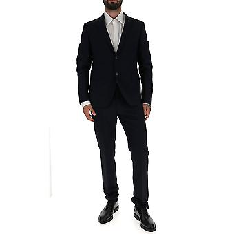 Valentino Blue Cotton Suit