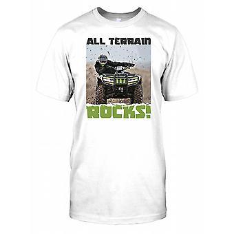 All Terrain Rocks - Quad Bike Racing Mens T Shirt