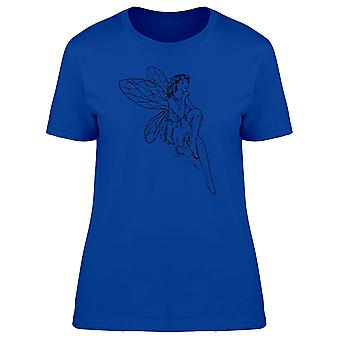 Young Fairy Thinking Silhouette Tee Women's -Image by Shutterstock