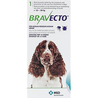 Bravecto Green For Dogs 22-44 lbs. (10-20 kg.)