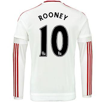 2015-2016 man Utd Long Sleeve maillot (Rooney 10) - Kids