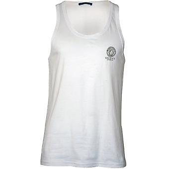 Versace Iconic Stretch Cotton Vest, Weiß